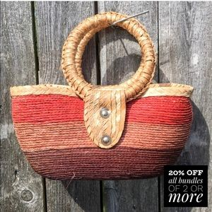 🎉 HP 🎉 Colorful Straw Handbag